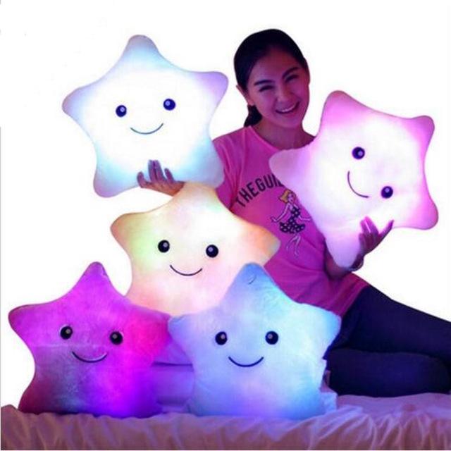 Colorful Lighting Music Throw Pillow