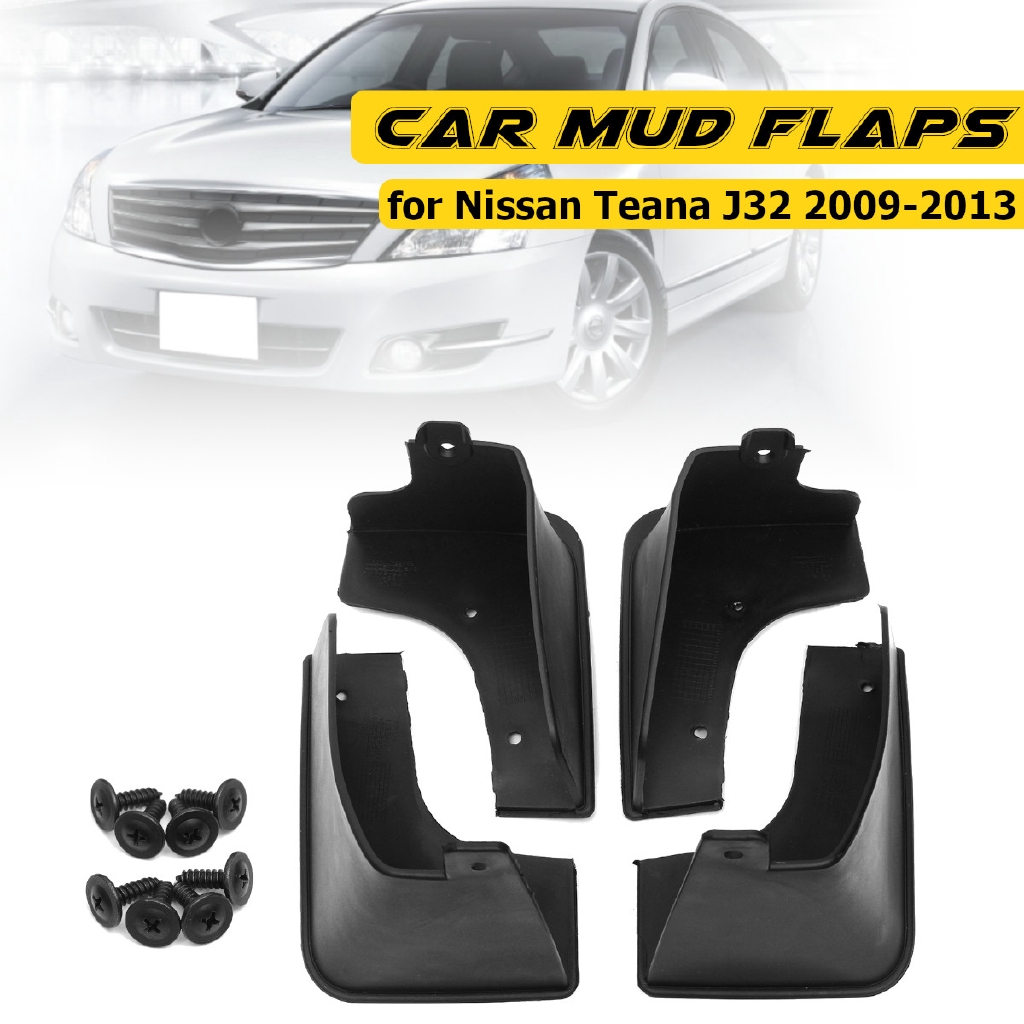 Set Mud Flap Fit For Nissan Teana J32 2009~2012 Splash Guards 2010 2011