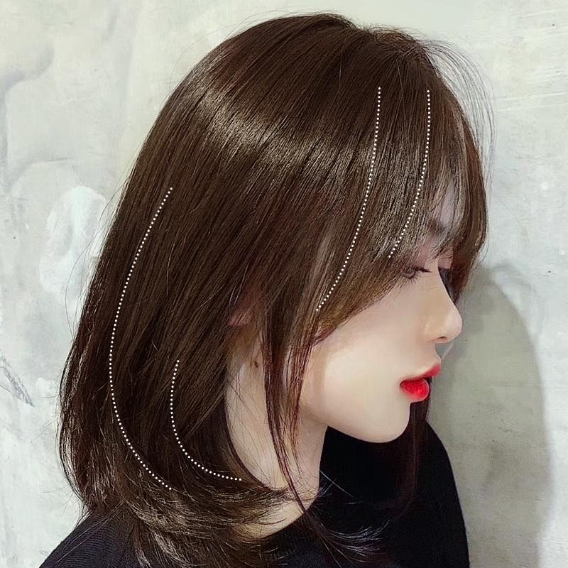 Wig Rambut Pendek Perempuan Styling Wajah Bulat Klavikula Merah Net Pendek Gaya Rambut Mengembang Tu Shopee Indonesia