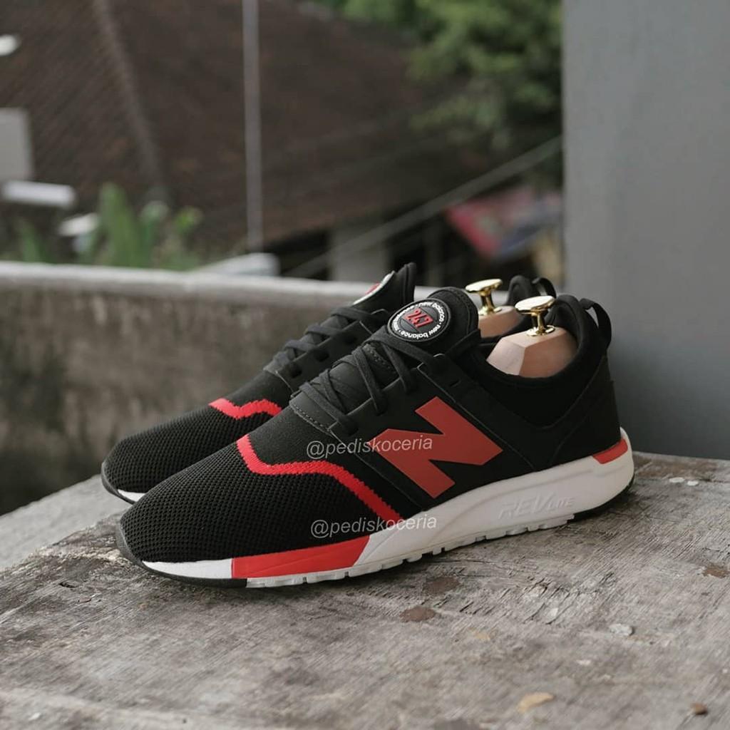 New Balance 247 Knit Black Red