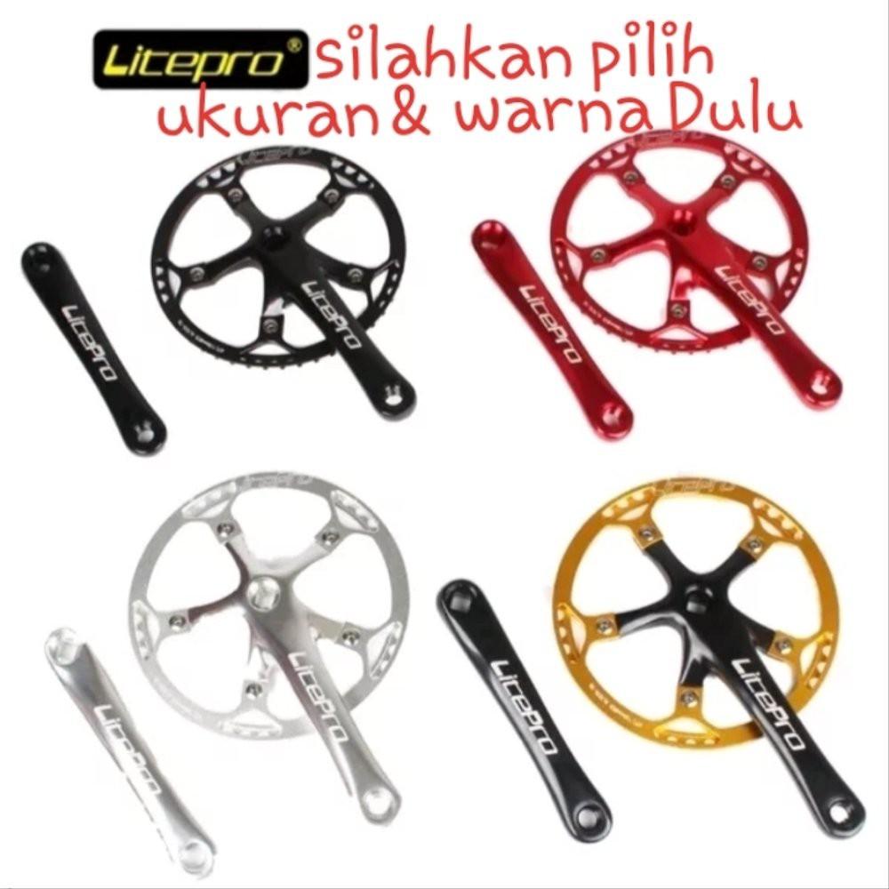 PROMO Paket Murah Crank arm Chainring Set LITEPRO Seli