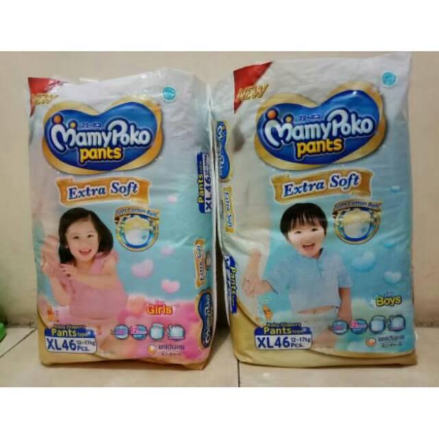 Popok Celana Bayi MamyPoko Pants Extra Soft XXL 38 Girl Mamy Poko XXL38 Girl   Shopee Indonesia