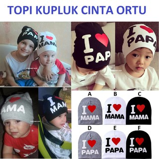... Topi Kupluk Cinta Ortu Anak Bayi Baby Balita Batita Keren Unik Murah  Kado Ultah Ulang Tahun. suka  0 dd700a96cc