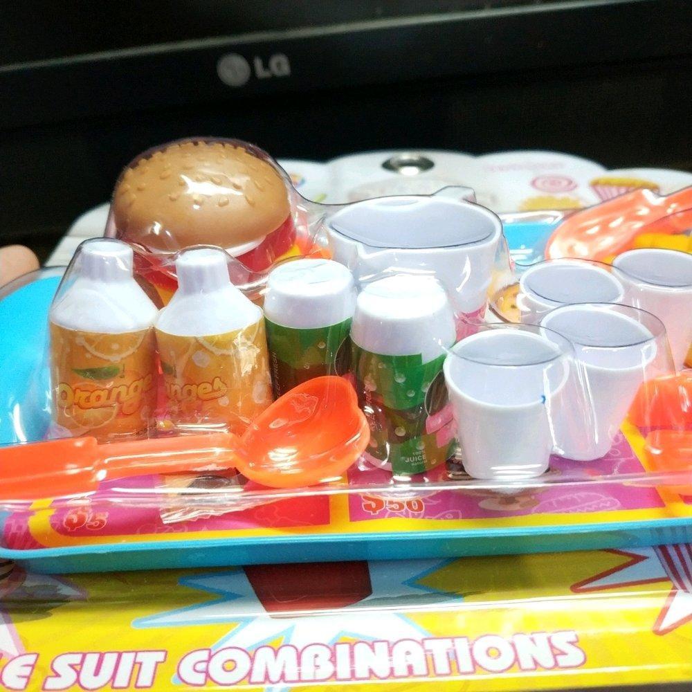 Mainan Playfood Kitchen Masak2an Anak Burger Ayam Kentang Goreng Pizza Murah Shopee Indonesia