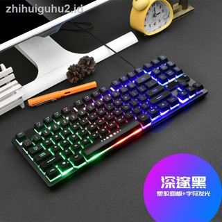 Games 87 Key Keyboard Mechanical Feel Small Portable Office Typing Practice Fingering Ergonomic E Shopee Indonesia