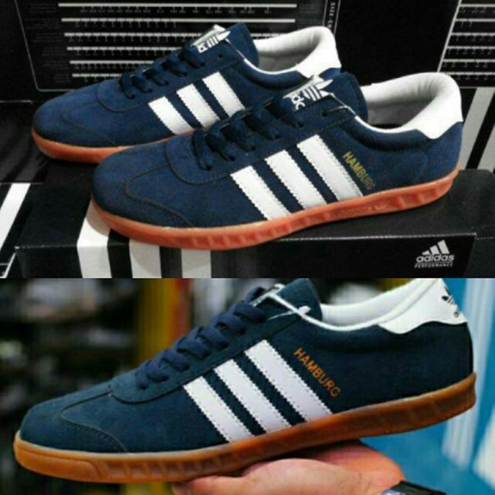 1a02b617fe71cb ... best service PROMOOO Sepatu Adidas Casual Hamburg Classic Skate Navy  Blue Shopee Indonesia cfda9 434e3