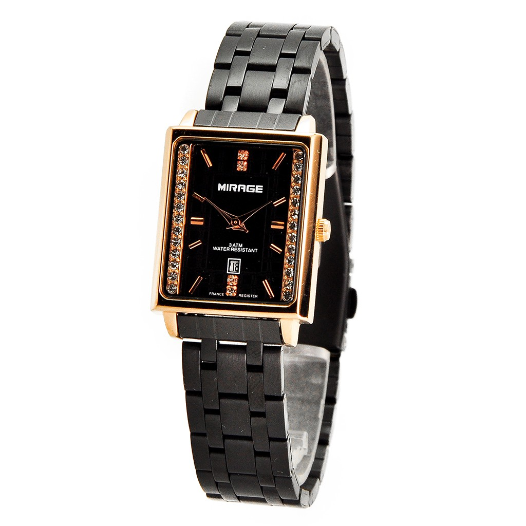 Jam Mirage Original Full Black Permata Rx 1579m Ph Shopee Indonesia Zeca 311 Kombi Gold Tangan Couple Stainless Steel Silver