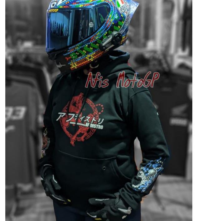 Diskon!! hoodie sunmori japanese limited edition ride with style hoodie kohaku naga tiger agv pista