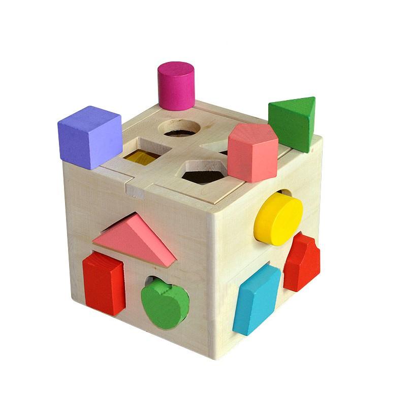 ME020 - Mainan Kayu Edukatif Anak Kotak Balok Kayu Mencocokkan ...