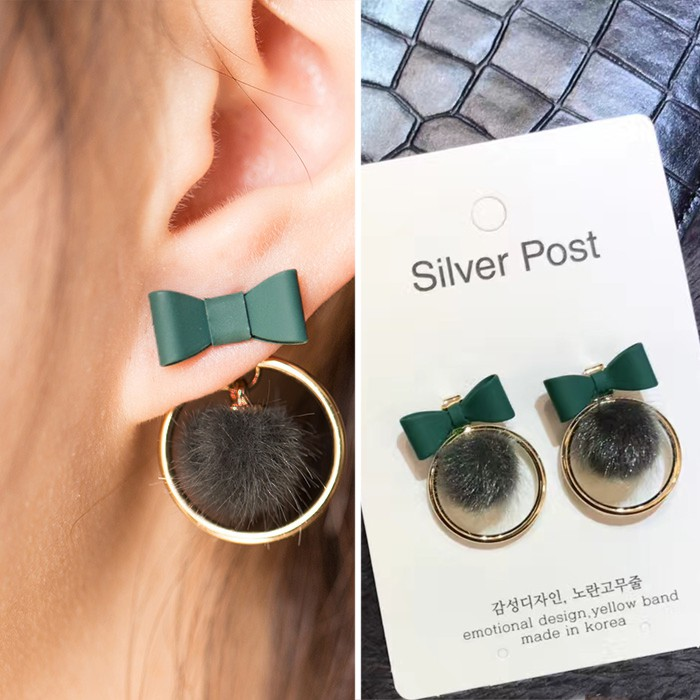LRC Anting Tusuk Fashion Flower Shape Decorated Earrings   Shopee Indonesia