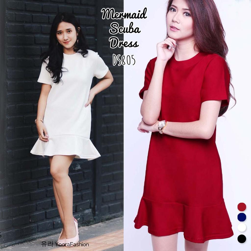 Belanja Online Dress Pakaian Wanita Shopee Indonesia Tunik Baju Atasan Sabrina Sweater Maelo Maroon