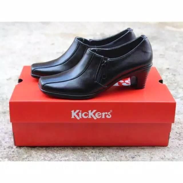 Sepatu wedge formal pantofel tinggi wanita hitam C5 kerja   kantor   pesta   2092aa5e2e