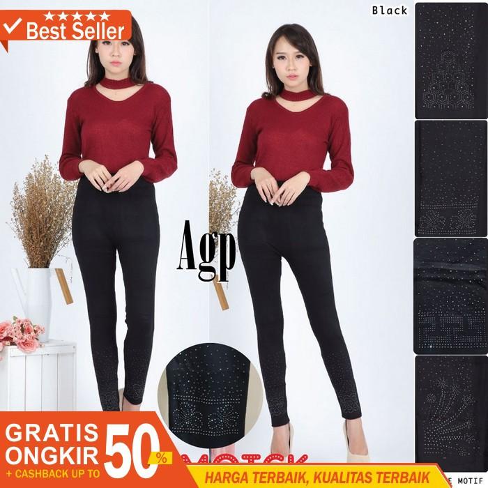 Attar Celana Legging Wanita Motek Import Jumbo Legging Hitam Legging Wanita Panjang Murah Shopee Indonesia