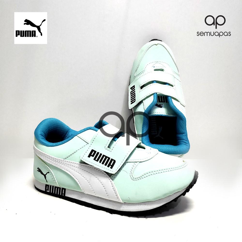 Sepatu Anak Puma Sepatu Sekolah Warna Mint Shopee Indonesia