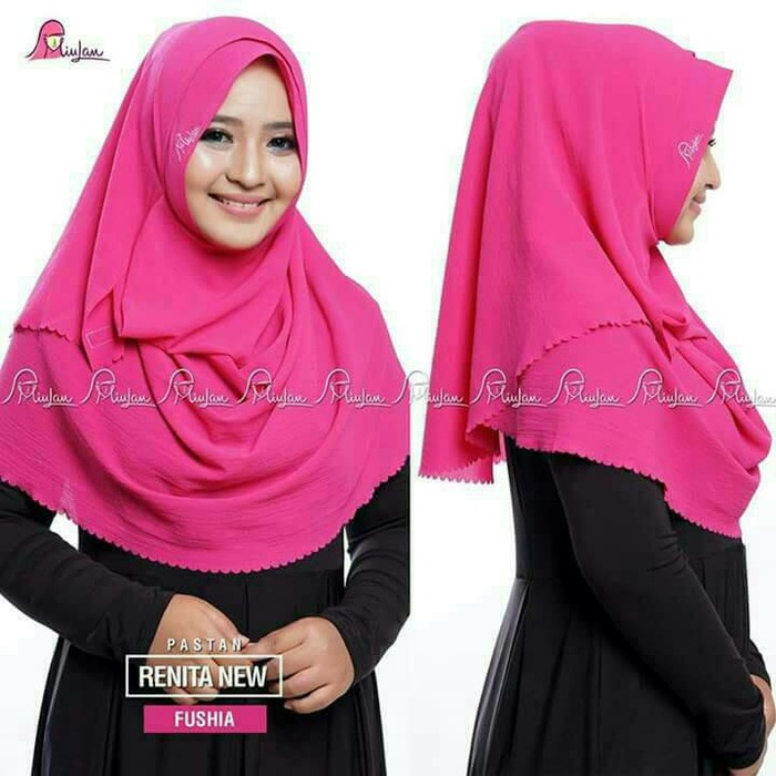 Hijab/Jilbab Pashmina Instan/Pastan Renita New MIULAN,ORIGINAL,PREMIUM | Shopee Indonesia