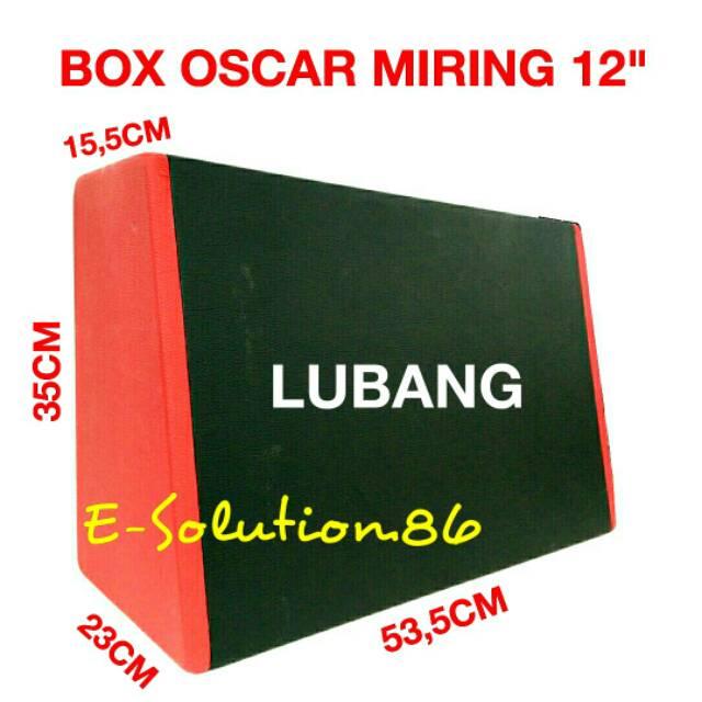 "Box OSCAR Miring LM 12"" Box Subwoofer 12 inch Box Kulit Jeruk Audio Mobil Box Speaker 12inch"