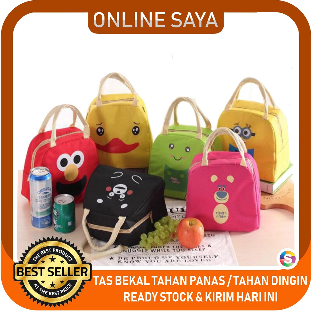 Serba Grosir Murah iconic insulated lunch pouch tas bekal tahan panas dingin cooler bag   Shopee Indonesia