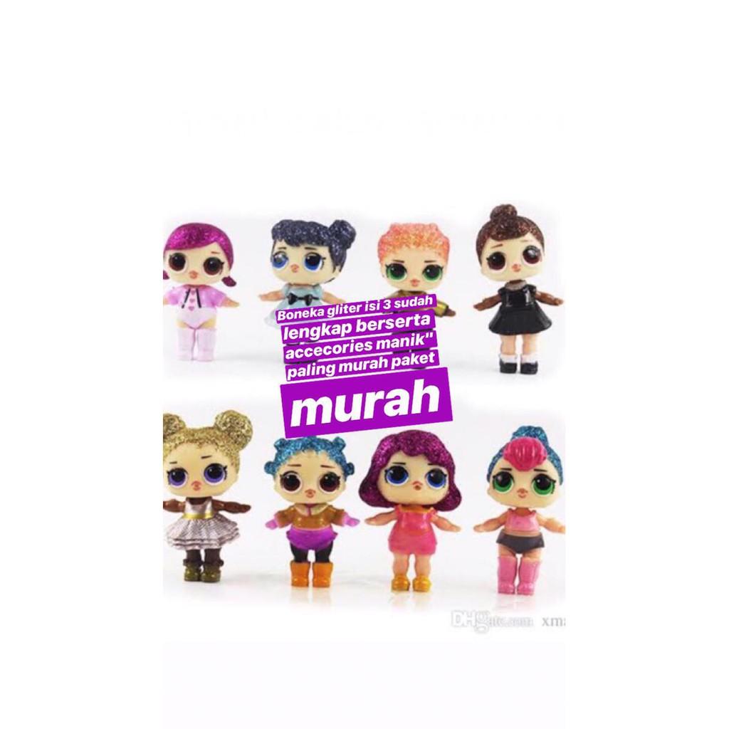 Termurah!! Boneka Mainan Anak Bebas 4 Pcs Paling Murah Lol Surprise Murah  1ca619419b