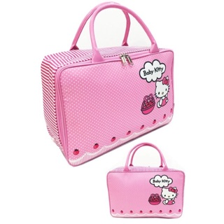 Tas travel bag kanvas hello kitty baby (HIGH QUALITY) / tas koper jinjing renang