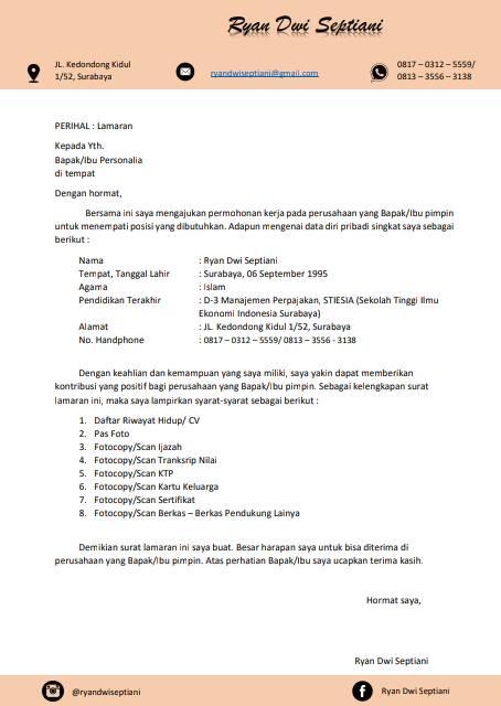 Jasa Pembuatan Cv Kreatif Dan Surat Lamaran