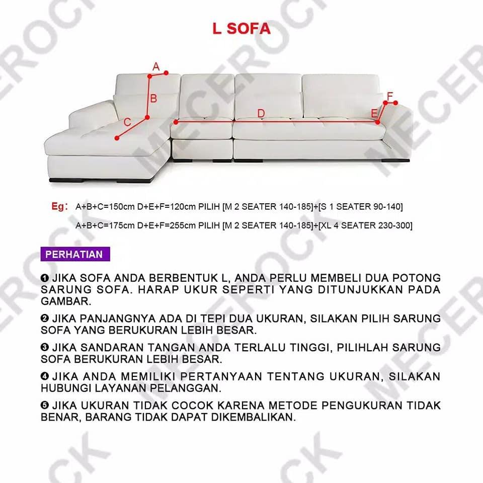 Cover Sofa 1 2 3 Seater Elastis Bonus 1 Sarung Bantal Stretch Sarung Sofa Dekorasi Kamar Shopee Indonesia Ukuran sofa 2 seat