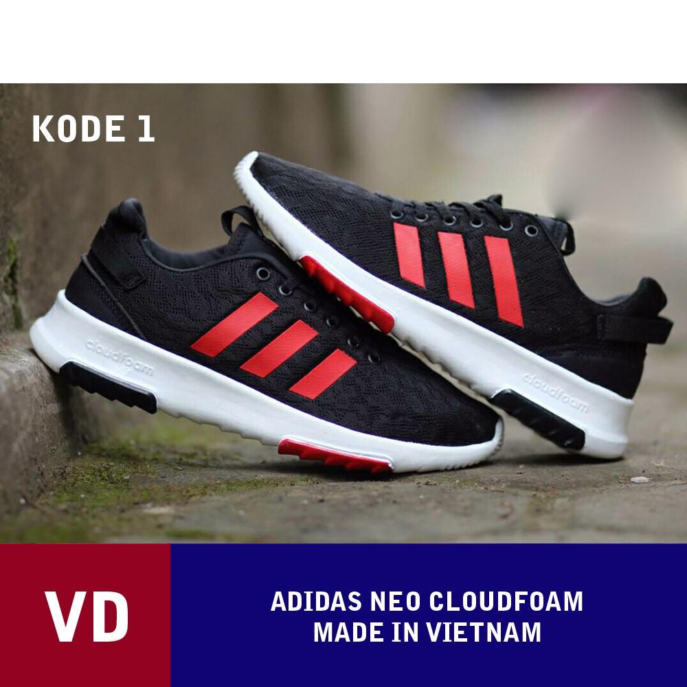 VD  NEW 2018 - Sepatu Adidas Neo Cloudfoam Olahraga Pria Running Shoes  1171f13138