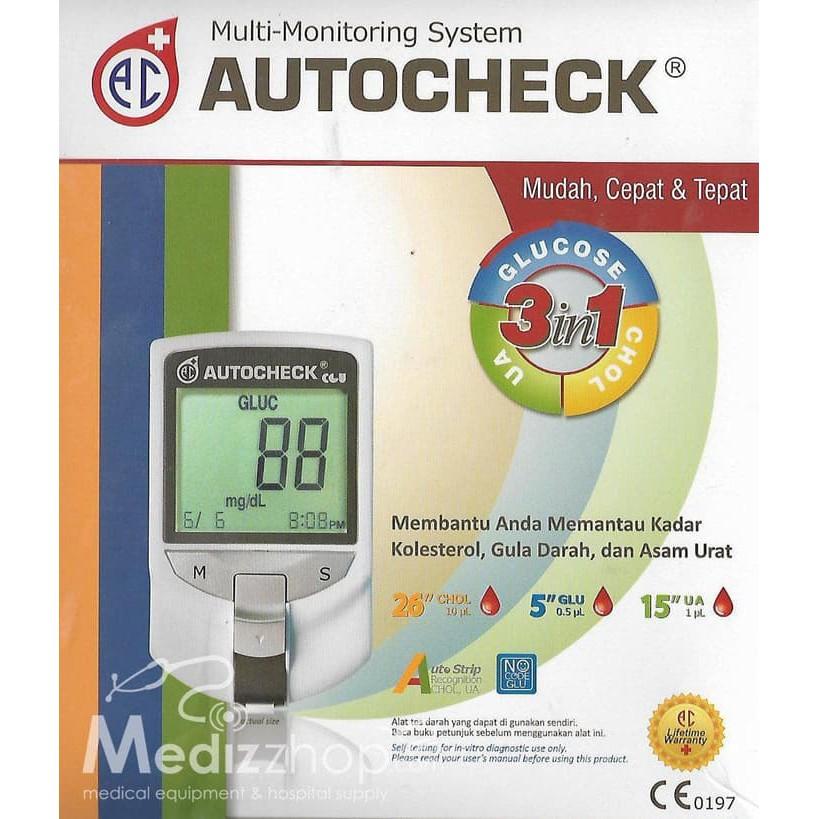 Alat test gula darah autocheck/Autocheck tes gula darah