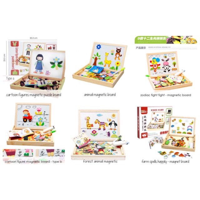 Edufuntoys - MAGNETIC BOARD/ Mainan Edukasi Papan Tulis Magnet Anak | Shopee Indonesia