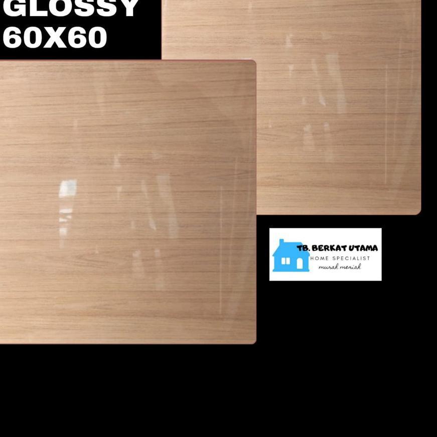 TERBAIK GRANIT GLOSSY 60X60 MOTIF KAYU WOOD HABITAT - GRANIT LANTAI , GRANIT DINDING, GRANIT KAMAR M