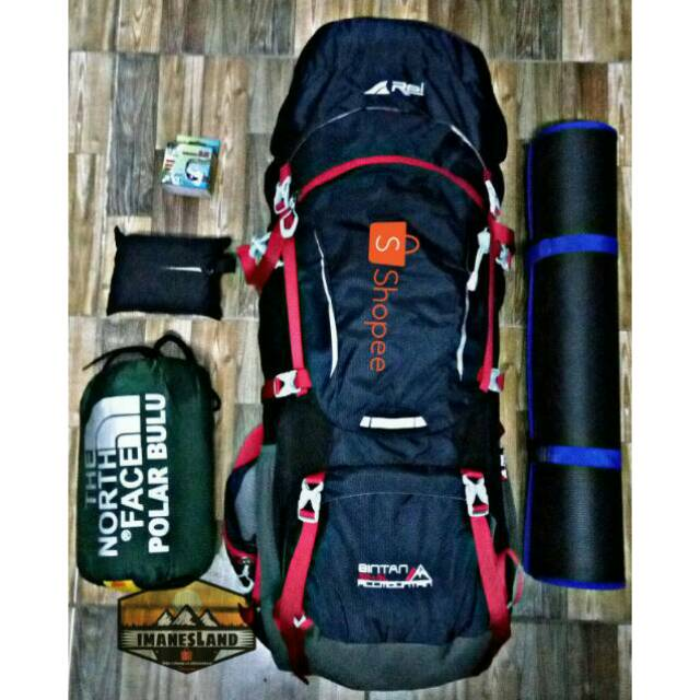 0c595383b0b Paket Hemat Tas Carrier Keril Gunung Ransel Rei Bintan 60+5 70 65 + 5 L  Liter Lt Hammock Kompor | Shopee Indonesia