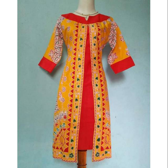 Dress Motif Batik Nias Shopee Indonesia