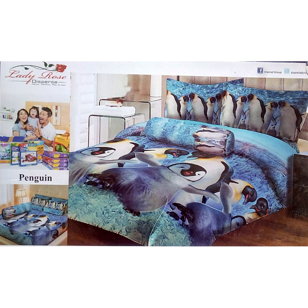 Sprei Lady Rose Disperse 180 Motif Love In Paris Berkualitas | Shopee Indonesia