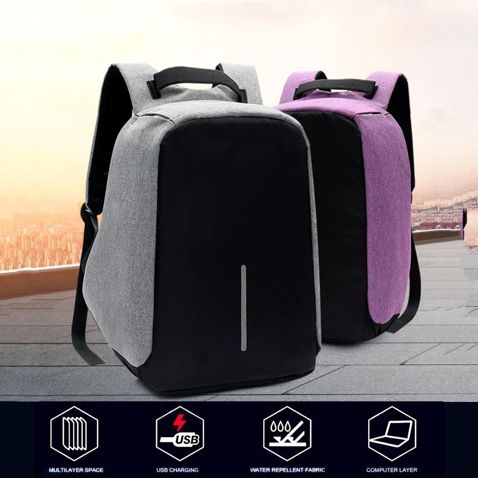 Aio Tas Backpack Anti Air Dengan Port Charger Usb Untuk Laptop Ransel Maling Ada Dan Handset Shopee Indonesia