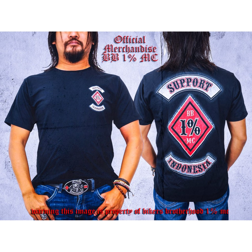 Kaos Brotherhood Support BB1%MC Indonesia