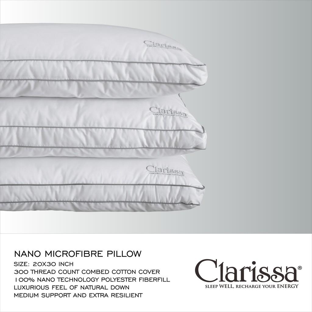 Clarissa Bantal Premium Shopee Indonesia Dacron Ampamp Guling Yuki Springbed Sepasang