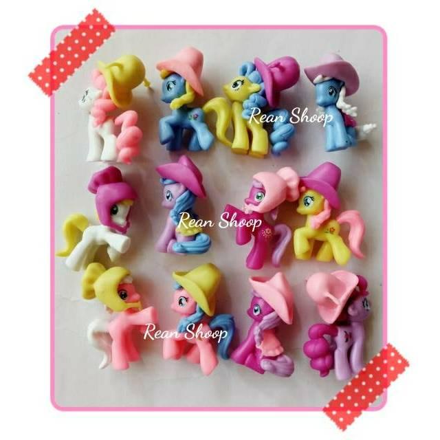 Action Figure Mainan Topper Toper Hiasan Kue Cake Ulang Tahun Karakter My Little Pony Kuda Poni