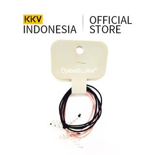 KKV - Dylee&Lylee Black pink pearl single bow knot Ikat Rambut Karet Rambut Riasan Rambut thumbnail