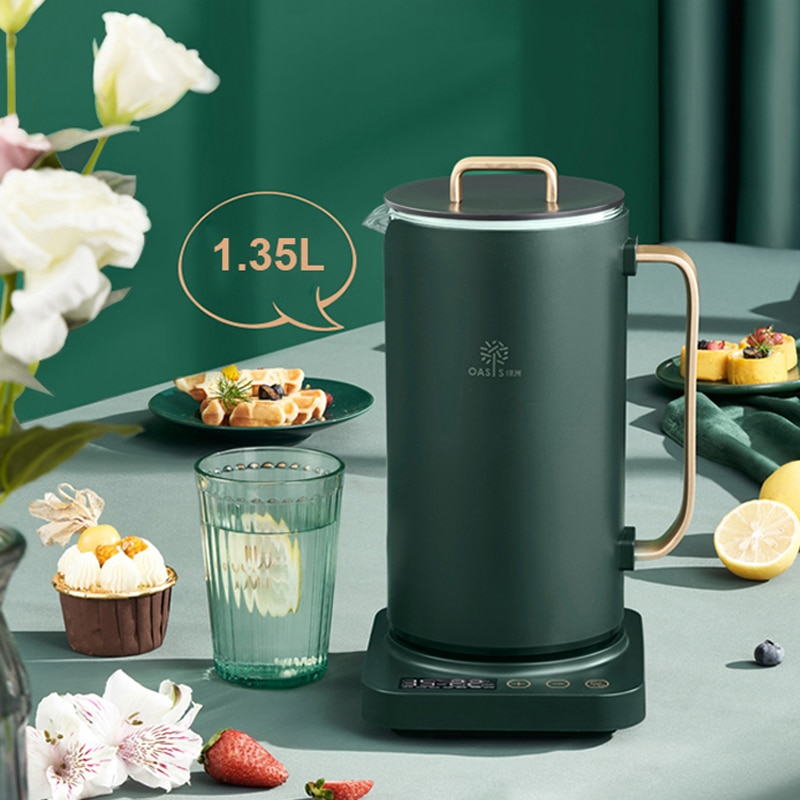 High Quality... 1000W Electric Kettle Boiled Teapot Tea Maker 1.35L Health Preserving Pot Heat
