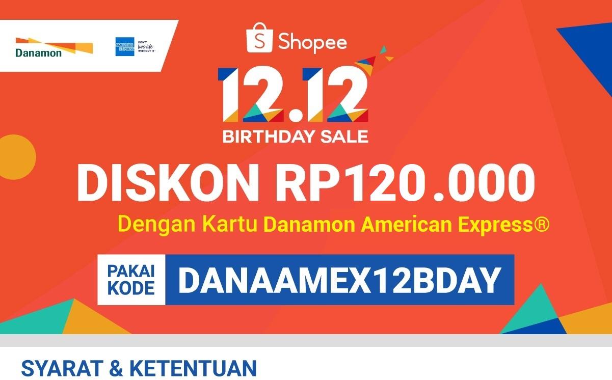 Diskon 120rb Pakai Kartu Kredit Danamon Amex 18 Nov 11 Des 2019