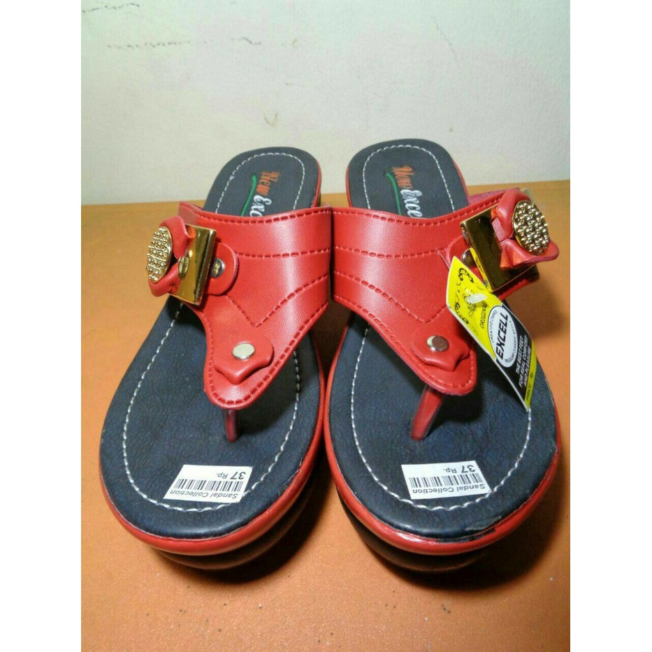Best Seller Sandal Wedges Putih Wanita Sendal Carvil Yongky Homyped Mr91 Cream Gucci Fladeo Premium Shopee Indonesia
