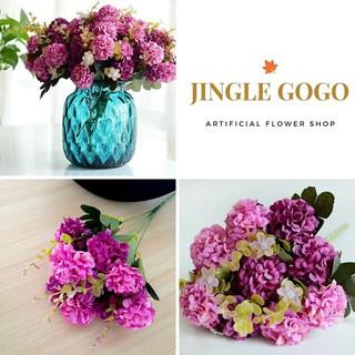 bunga hidrangea 10 kepala hortensia krisan artificial