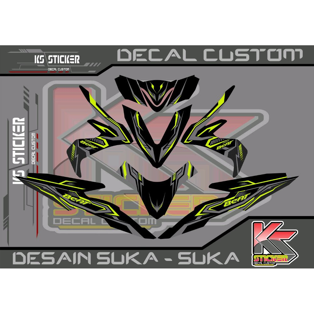 Stiker decal all new beat esp beat street black red limited shopee indonesia