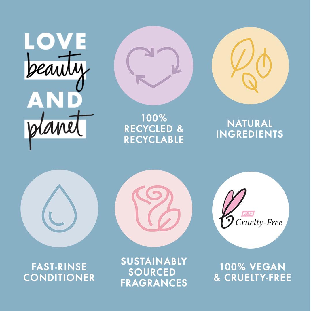 Love Beauty And Planet Shampoo Coconut Water & Mimosa Flower 400 Ml - Perawatan Rambut Lepek-4