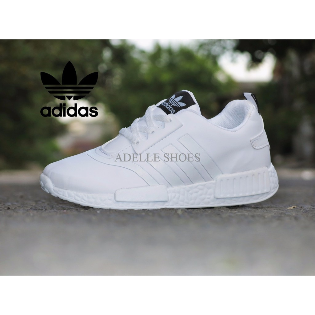 Sepatu Pria  Wanita Murah Sepatu Sport Adidas NMD Runner Full White Putih  casual sneakers cewek  82da55d2fa