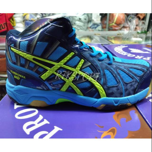 Kicosport sepatu volley professional turbomax Warna  navy   merah   biru  original new 2018  3905036b67