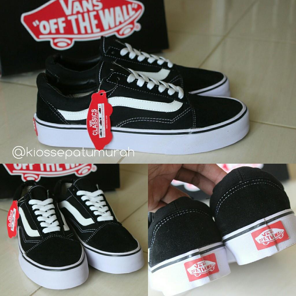 Sepatu Vans OldSkool MONO Black White Grade Ori Import Made In China ... 8f7a4b6343