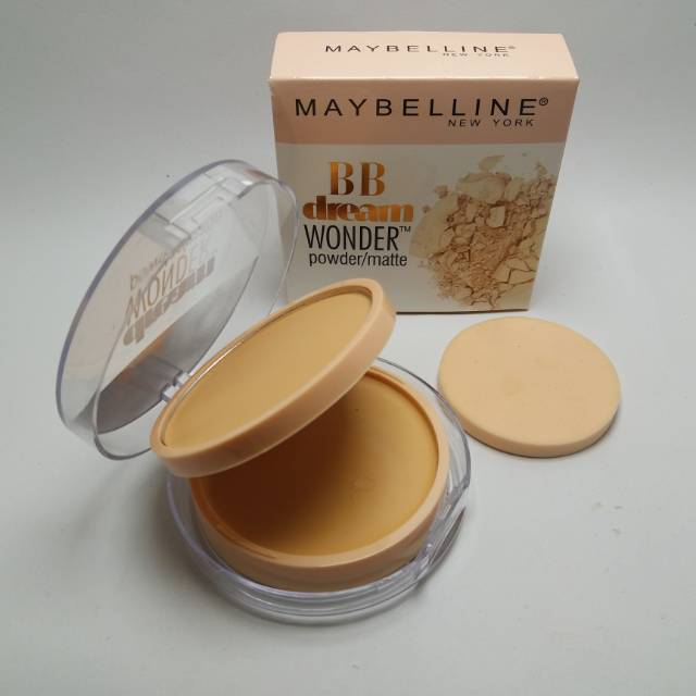 MAYBELLINE 2in1 POWDER BEDAK + FOUNDATION DREAM VELVET SKIN | Shopee Indonesia