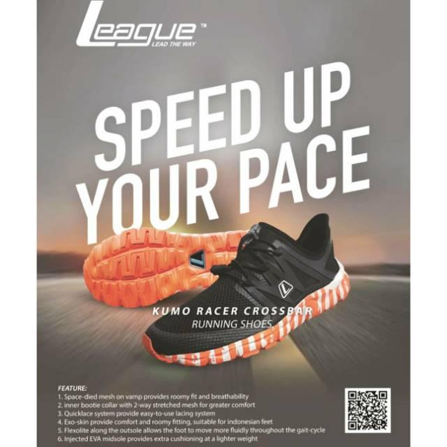 Sepatu league kumo racer crossbar terbaru running shoes cowo pria original  diskon promo murah  006e5a0d62