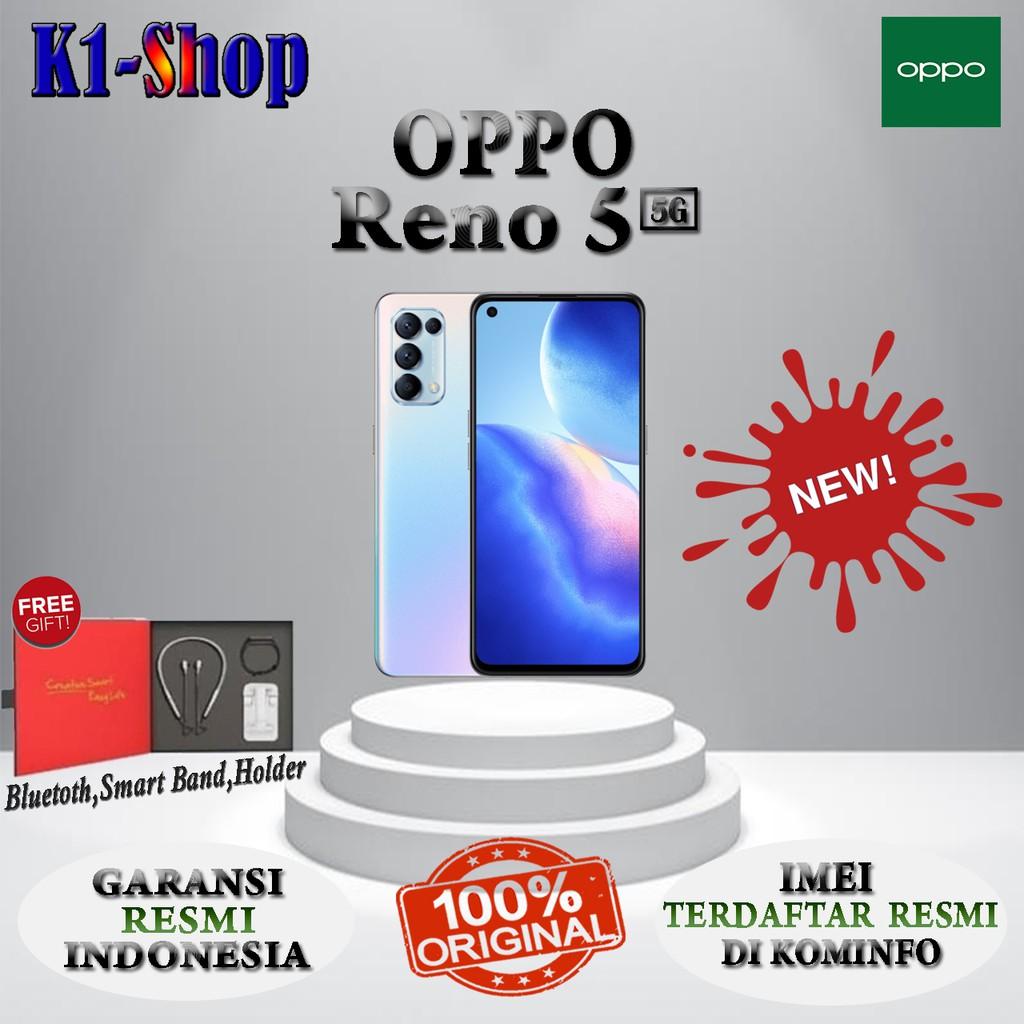HP BARU OPPO RENO 5 5G RENO5 5G RAM 8/128 GB GARANSI RESMI OPPO INDONESIA