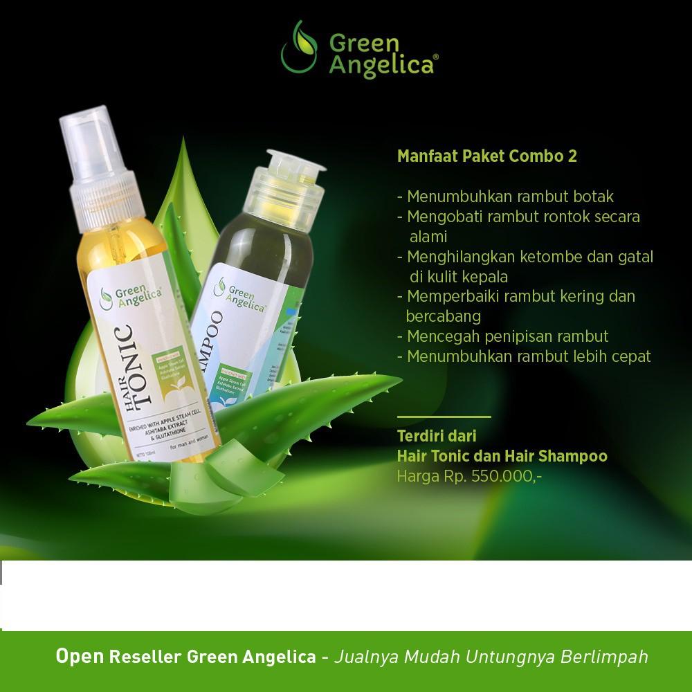 Paket Menumbuhkan Rambut Cepat Cara Mengatasi Rambut Tipis Green Angelica  Menebalkan Rambut Tipis  0b9d65956b